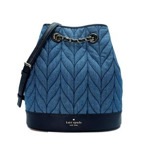 Kate Spade Briar Lane Quilted Denim Backpack NWT